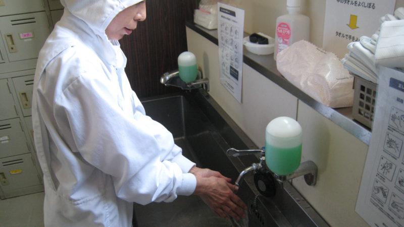 白龍堂の入室管理(手洗い編)